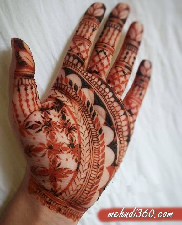Arabic Front Hand Beautiful Mehndi Design