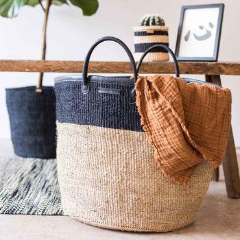 Stylish Hand-Woven Laundry Basket