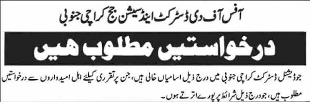 Matric Base Jobs In Karachi