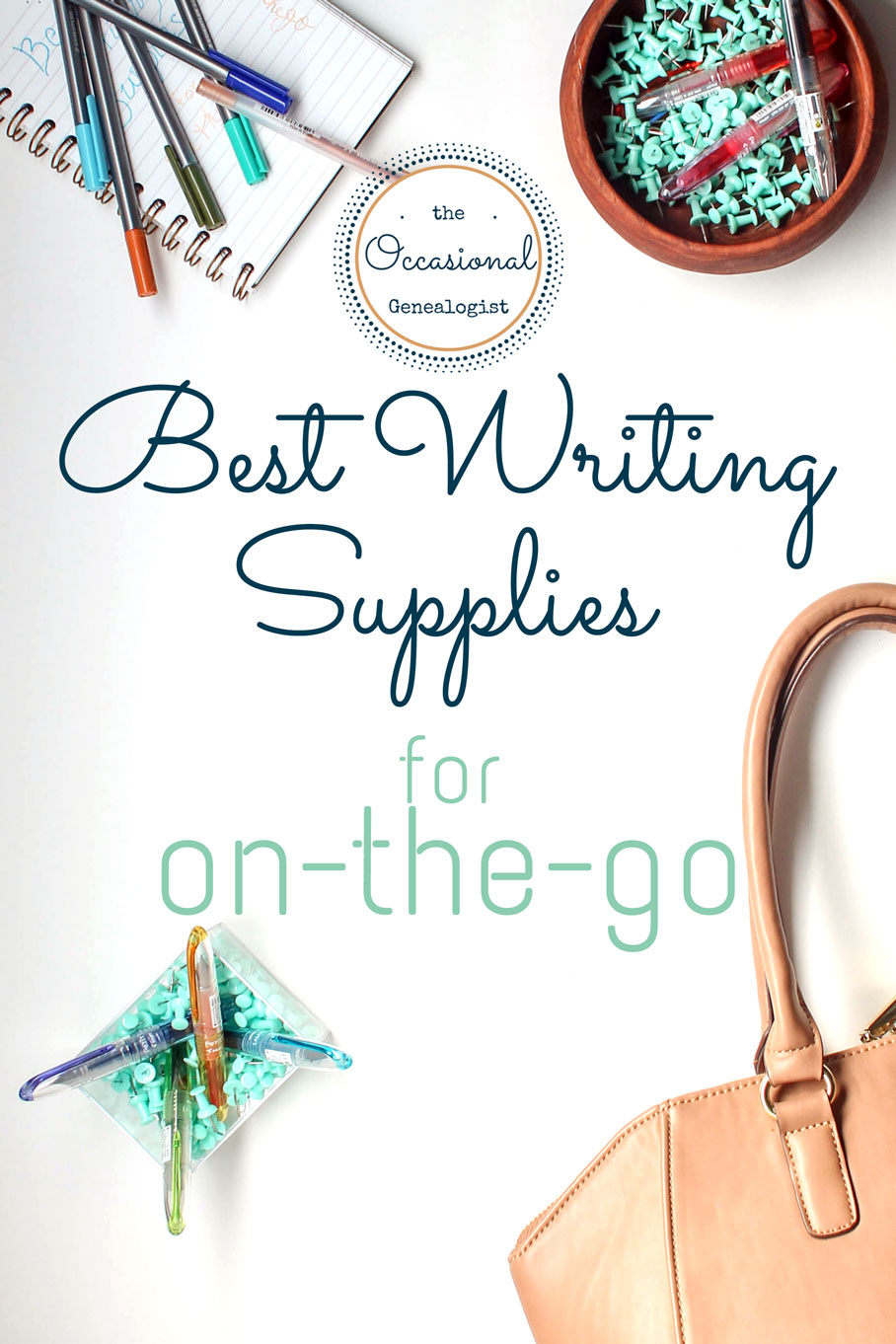 Bullet journal or DIY planner, you need a good notebook if you want to write on the go. Here are my favorites that stand up to fountain pens and markers. | The Occasional Genealogist