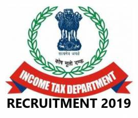 Income Tax Recruitment 2019 For 20 Tax Assistant, MTS Post