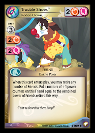 My Little Pony Trouble Shoes, Rodeo Clown Equestrian Odysseys CCG Card