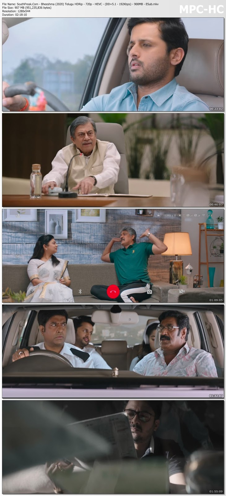 Bheeshma 2020 Telugu 1080P 1.6 GB Download Full Movie