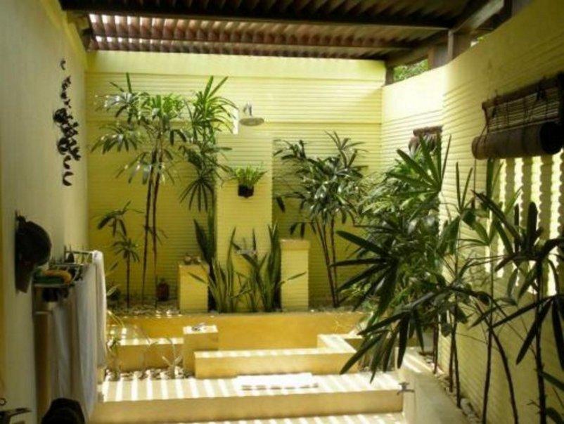 taman dalam rumah minimalis modern yang minimalis