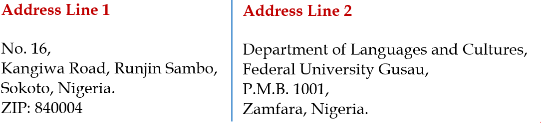 Abu-Ubaida Sani Address