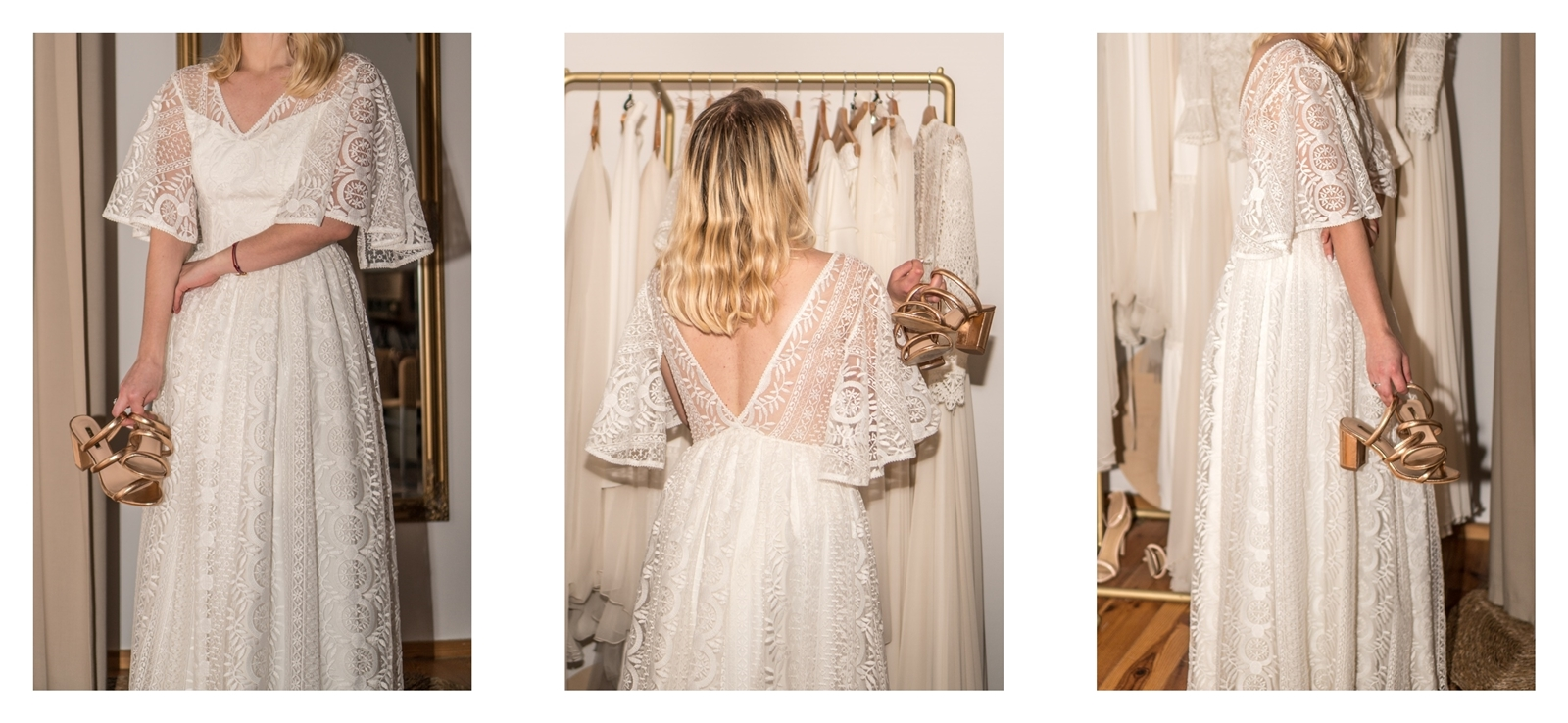 21 suknia ślubna boho 2020 rybka koronka suknia ślubna prosta krótka długa syrenka syrena z trenem cywilny jedwabna rustykalna koronkowa
