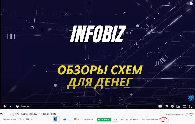 youtube нажимаем на троеточие