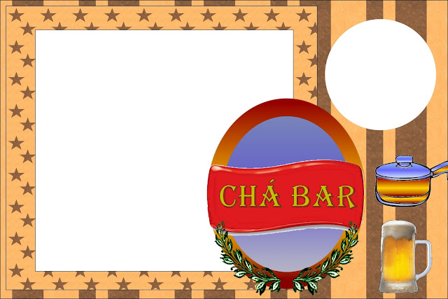 Cha Bar Kit Completo Com Molduras Para Convites Rotulos Para