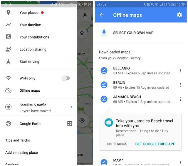 gunakan google maps offline 01