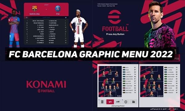 PES 2017 Barcelona Graphic Menu eFootball 2022