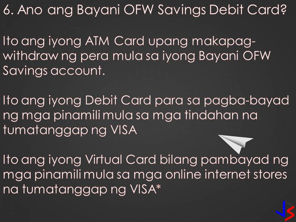 Overseas Filipino Workers (OFWs) need to save while earning big from working abroad. As OFWs, saving money for an emergency, for our family's future or for our retirement is important. Opening a savings account in a bank that you trust and gives value to your money will inspire you to save more. Bayani OFW Savings from Sterling Bank of Asia is a savings account that comes with no maintaining balance and for as low as P2,000 pesos in your account, your money with grow with interest.