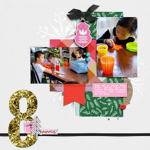 Digital Scrapbook Page Document Your December Day 8