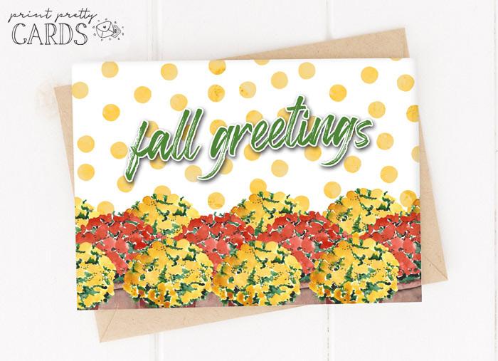 Printable Fall Cards