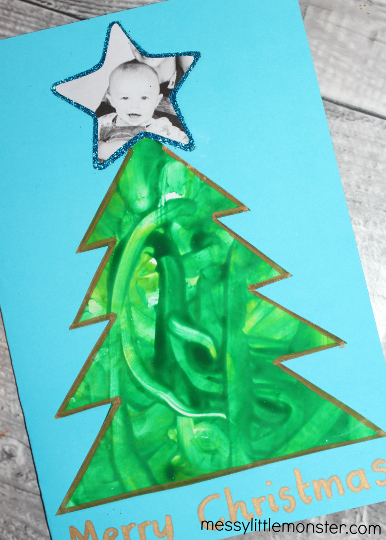 Babies first Christmas keepsake - Christmas tree craft