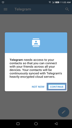 To access your contacts
