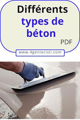 différents types de béton - pdf