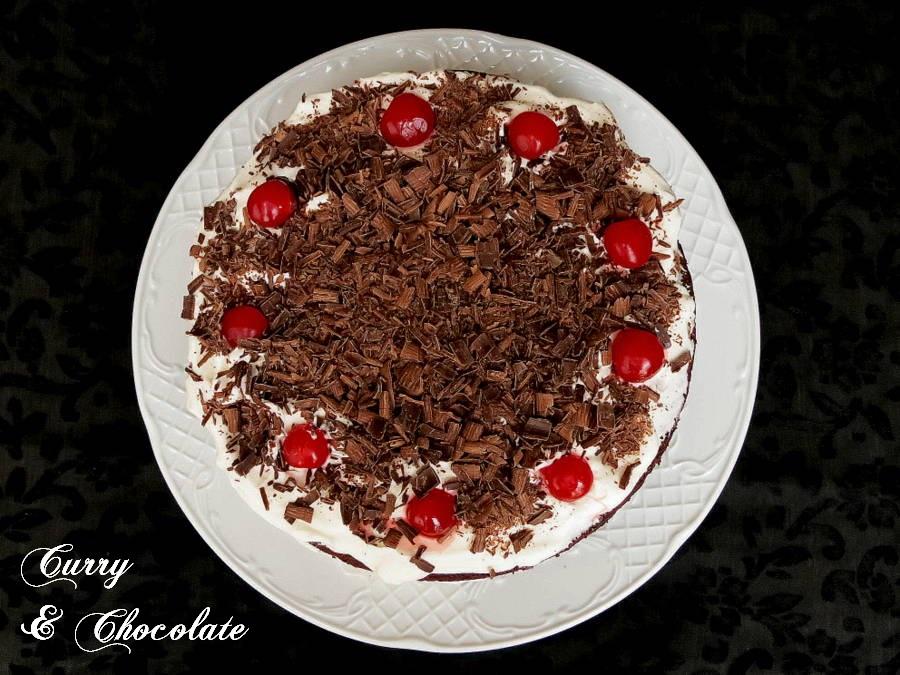 Tarta Selva Negra – Black Forest Cake - Reto Alfabeto Dulce