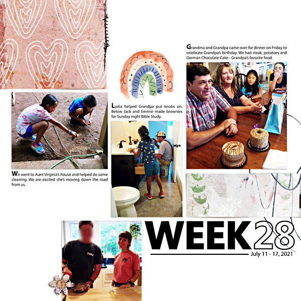 Week 28 by Scrapping with Liz