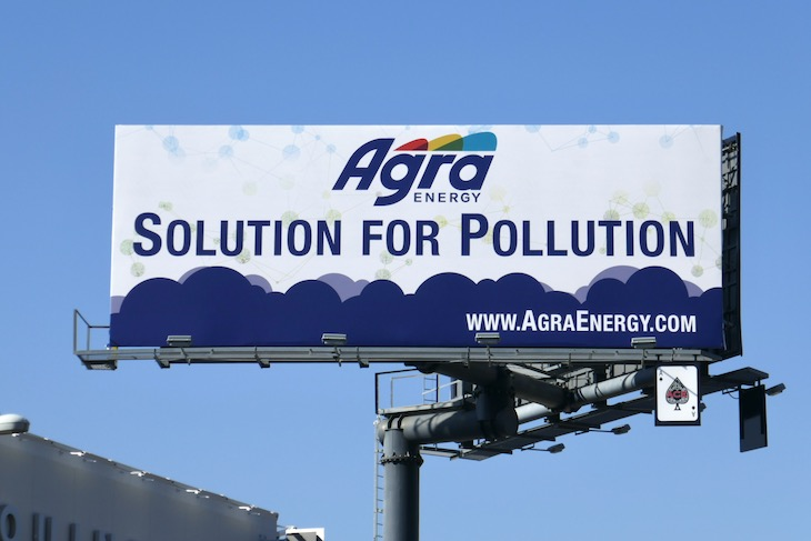 Agra Energy Solution for Pollution billboard