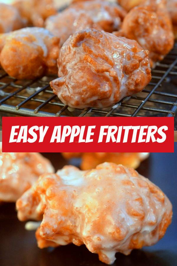 These Easy Apple Fritters are so delicious! You will make them again and again! #easyrecipe #applefritters #appetizers
