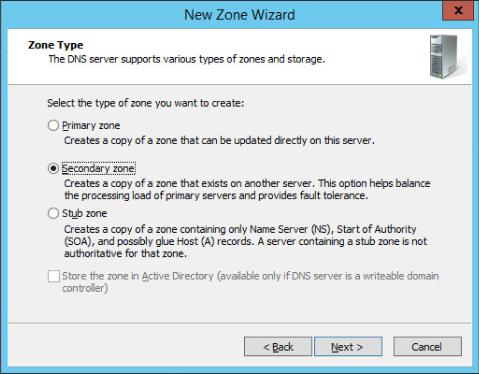 Figure 15: Step 15 of migrating a Linux BIND name server to a Windows Server DNS server.