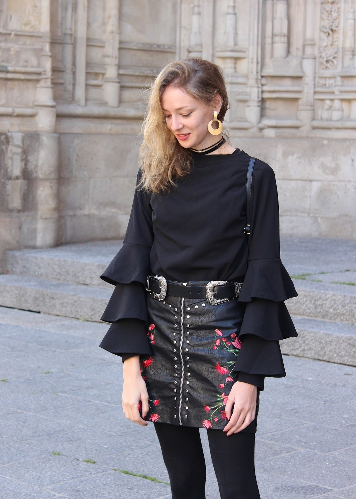 studded-leather-skirt-zaful