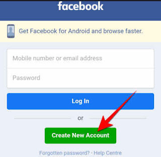click create new account