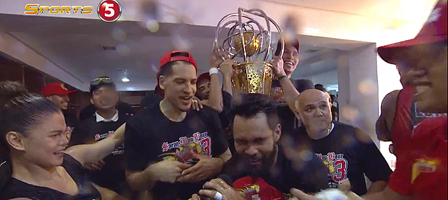 SMB's Locker Room Celebration - 2017 PBA Philippine Cup Champions (VIDEO)