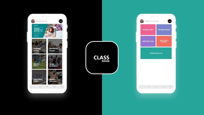 Modèle d'application de classe pour les enseignants et les étudiants