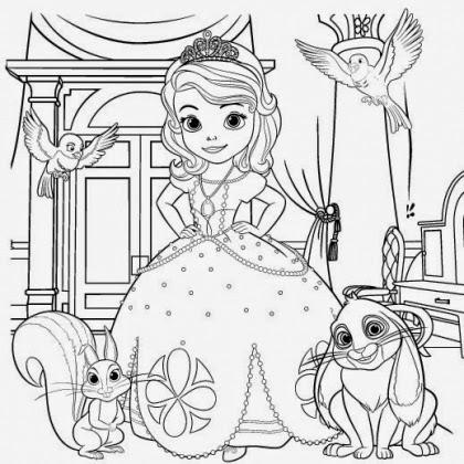 Aprende brincando colorir a princesa sofia for Sofia printable coloring pages