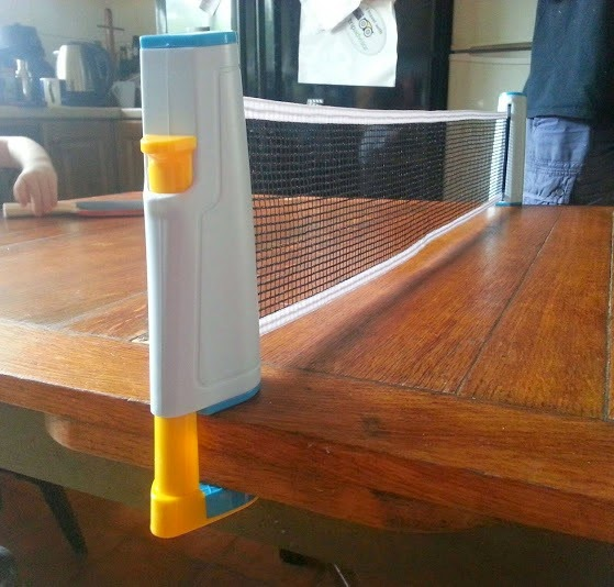 Table Top Table Tennis Ping Pong set fixed to table