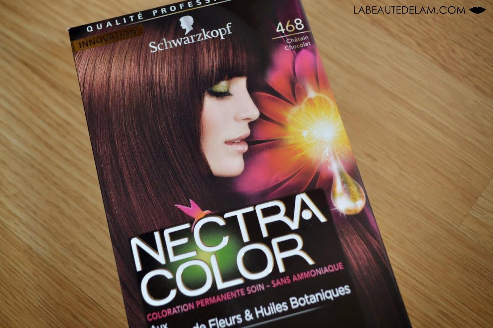 j 39 ai test la coloration nectra color de schwarzkopf. Black Bedroom Furniture Sets. Home Design Ideas