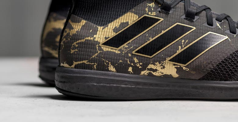 sale retailer 21be2 d6418 Part of the 2017 Paul Pogba Capsule collection, the new Adidas Ace 17 Paul  Pogba trainers introduce a classy look in black gold.