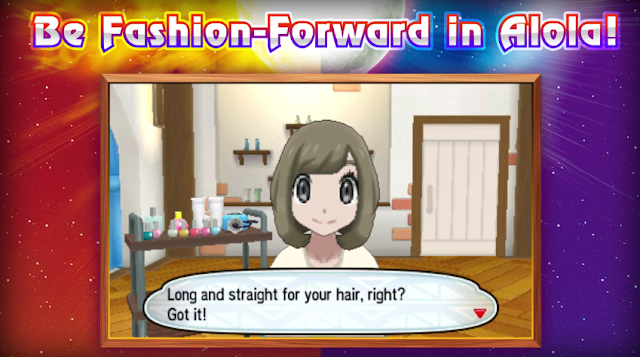 Pokémon Sun Moon hair customization trainer Alola long straight female girl