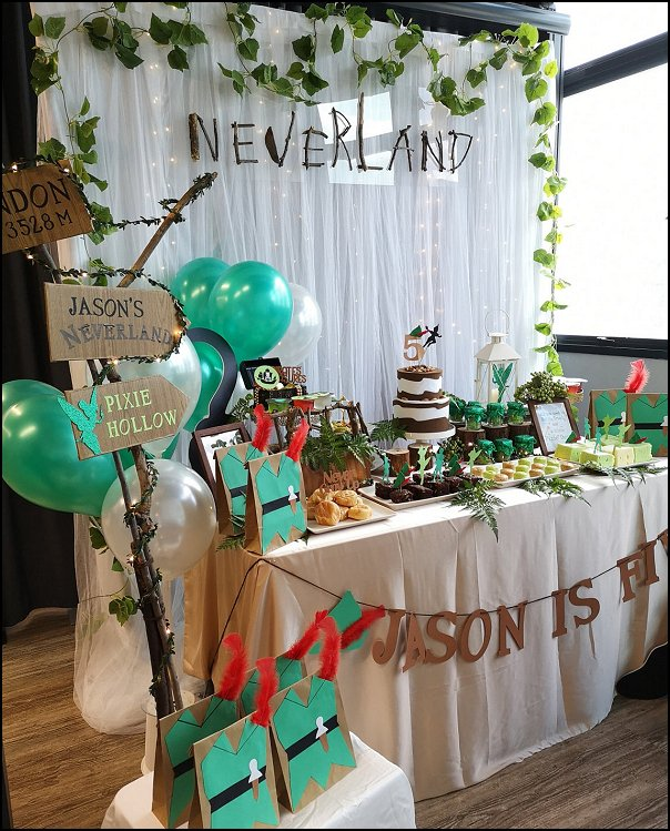 peter pan party decorations  Neverland Peterpan Inspired Green Favor Bags