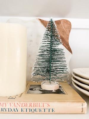 winter kitchen shelves