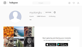 Jual Akun Instagram Follower 5900 murah ondol95net