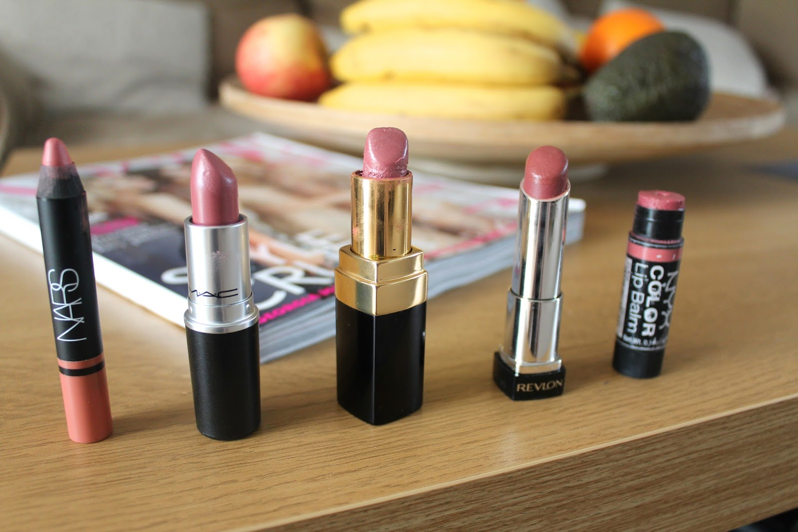 bblogger bbloggers beauty lipsticks nudes nars satin lip pencil descanso mac satin brave chanel coco rouge cecile revlon lip butter pink truffle nyx color lip balm tack vogue recommendations tutorial top 5 instagram swatch