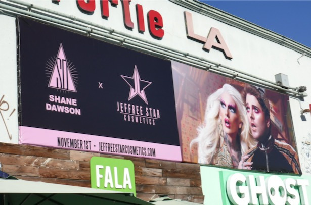 Shane Dawson x Jeffree Star Cosmetics billboard
