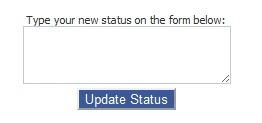 Facebook status updater