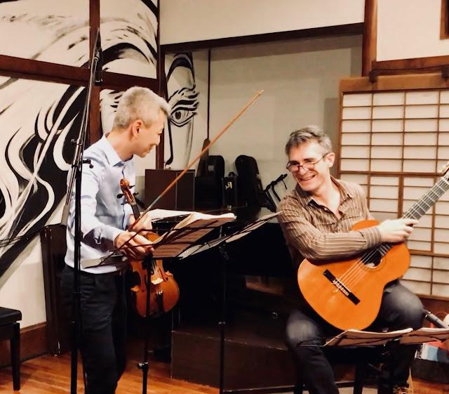 喜多直毅(ヴァイオリン)Leonardo Bravo(ギター) 2019年7月7日@雑司が谷エルチョクロ
