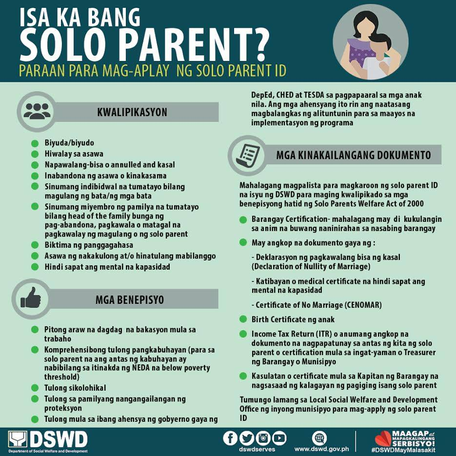 single parents benefits philippines Children benefit adult participation sends the message that school is important and if the school does not actively seek the attendance of single parents, fathers,.