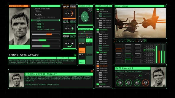 HUD Retro User Interface Screen[Videohive][After Effects][25744048]