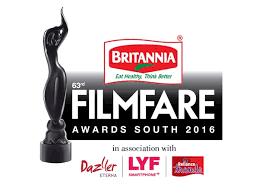 Buy tickets for 63rd Britannia Filmfare Awards 2016 South