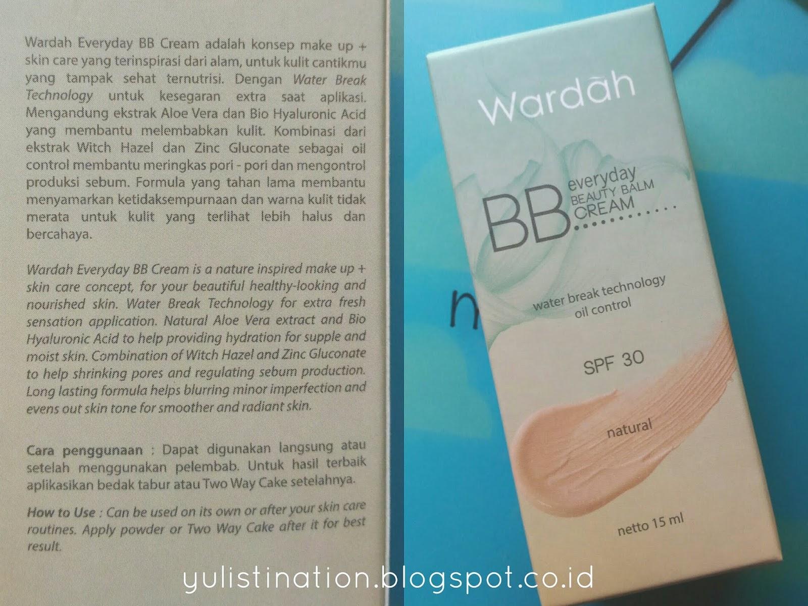 Review Wardah Everyday Beauty Balm Bb Cream Shade Natural The Adalah Konsep Make Up Skin Care Yang Terinspirasi Dari Alam Untuk Kulit Cantikmu Tampak Sehat Dan Ternutrisi