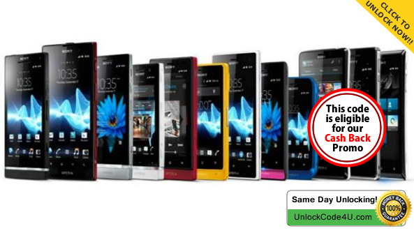 Factory Unlock Code for any Sony Xperia.