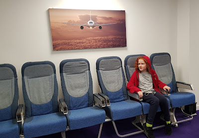 Airbus aircraft seats in waiting room