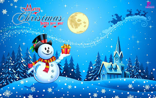 Happy Christmas 2016 Snowman Wishes