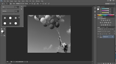 WARNA HITAM PUTIH  DENGAN Black and White DI PHOTOSHOP