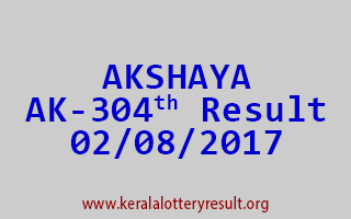 AKSHAYA Lottery AK 304 Results 2-8-2017